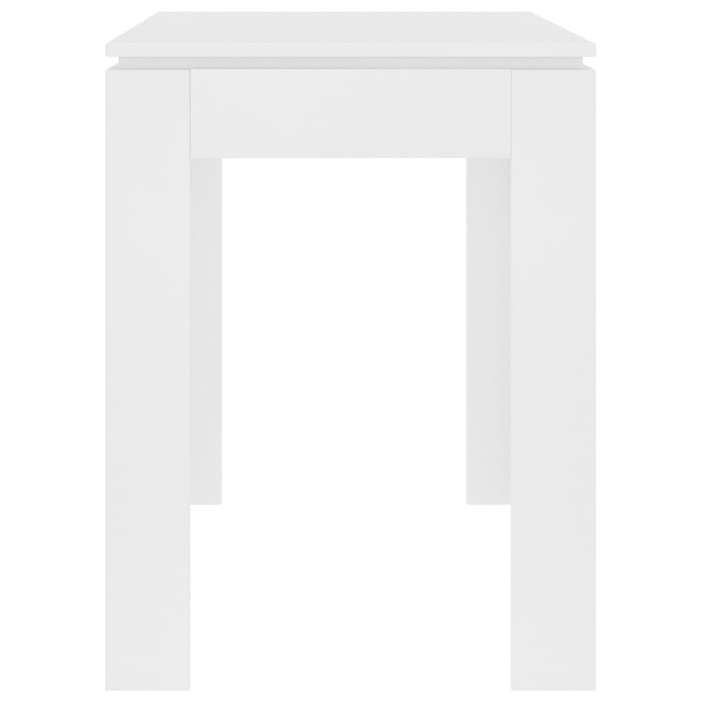 Dining Table White 120x60x76 cm Chipboard 5