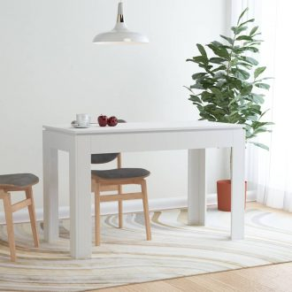 Dining Table White 120x60x76 cm Chipboard 1