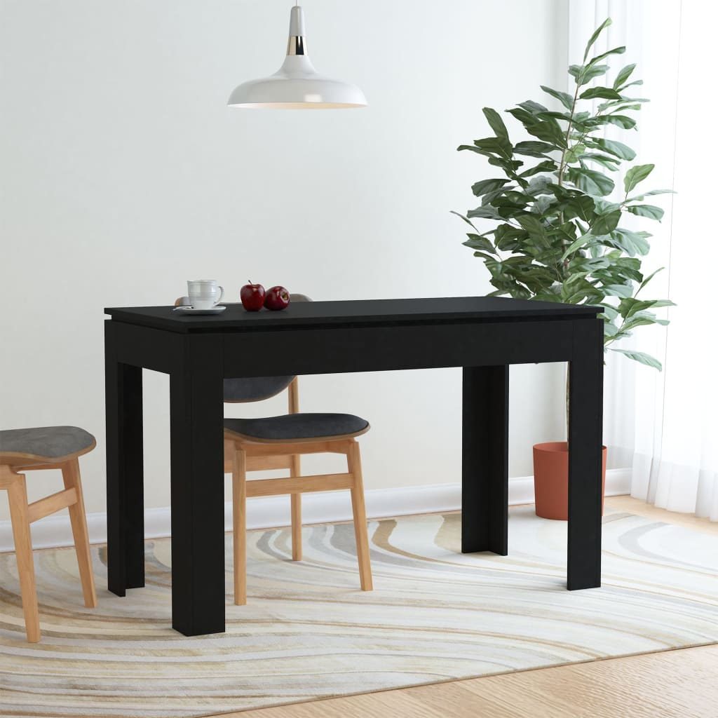 Dining Table Black 120x60x76 cm Chipboard 1