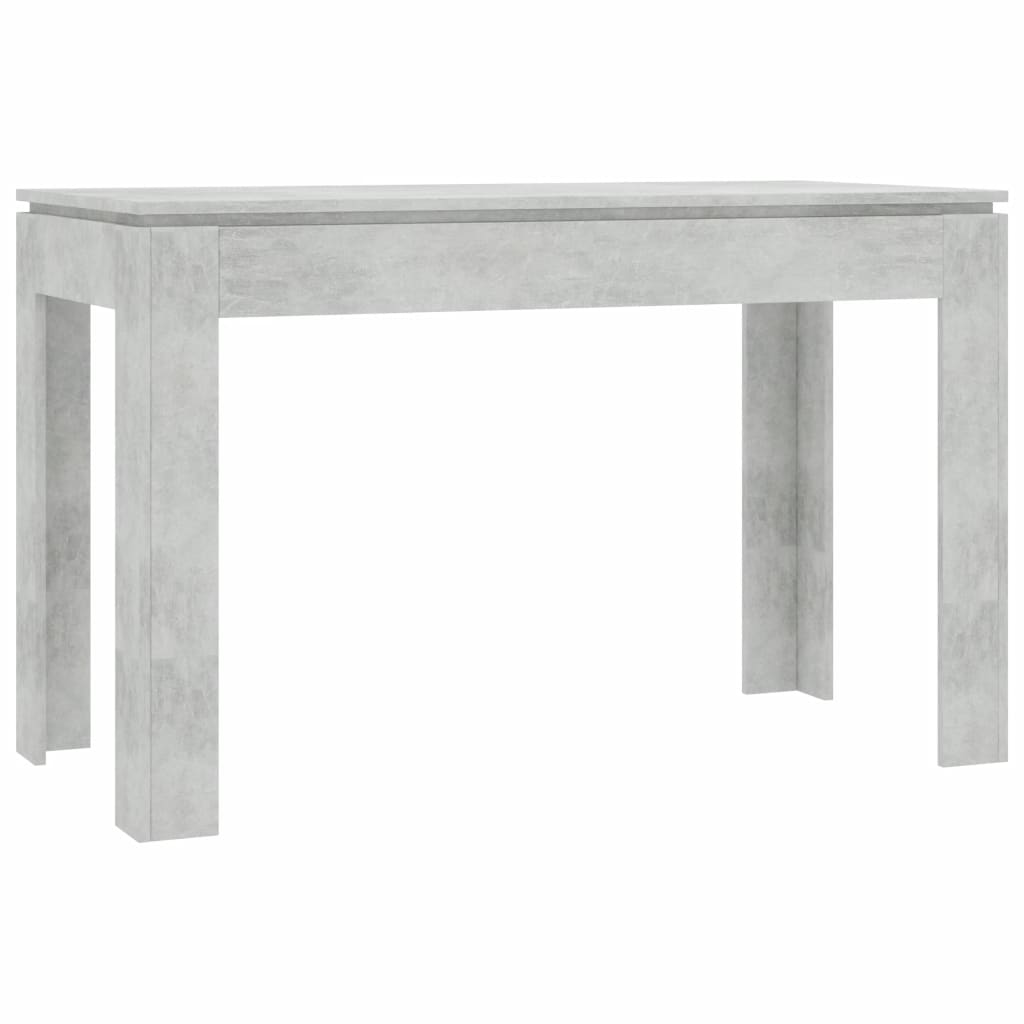 Dining Table Concrete Grey 120x60x76 cm Chipboard 2