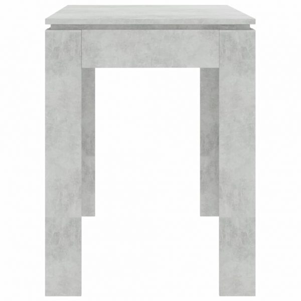 Dining Table Concrete Grey 120x60x76 cm Chipboard 5