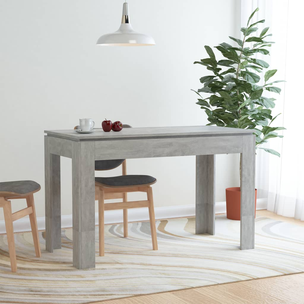Dining Table Concrete Grey 120x60x76 cm Chipboard 1