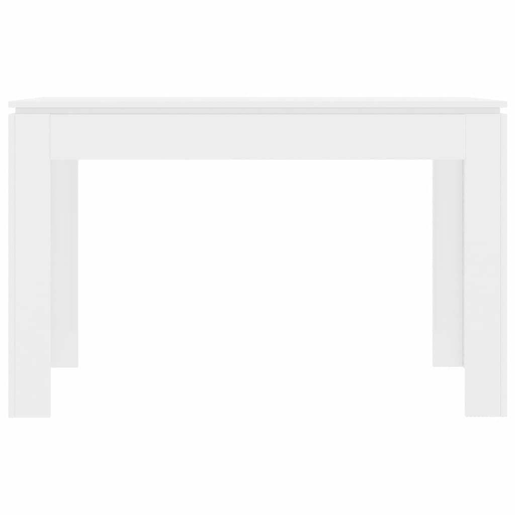 Dining Table High Gloss White 120x60x76 cm Chipboard 4