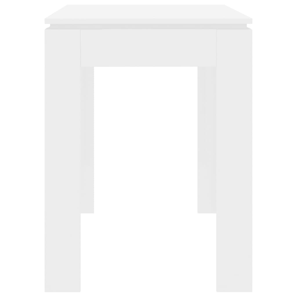 Dining Table High Gloss White 120x60x76 cm Chipboard 5