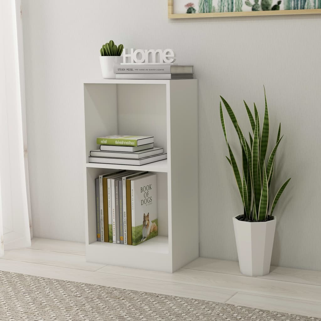 Bookshelf White 40x24x75 cm Chipboard