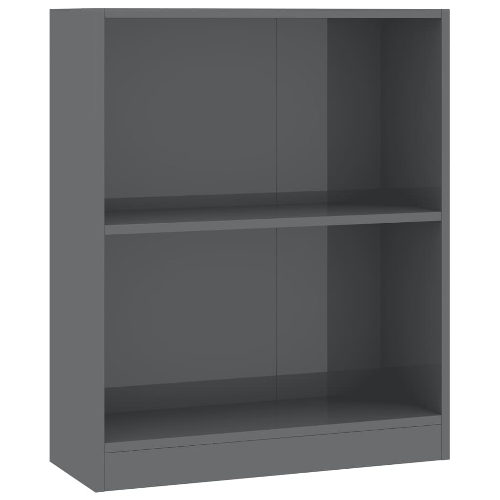 Bookshelf High Gloss Grey 60x24x74