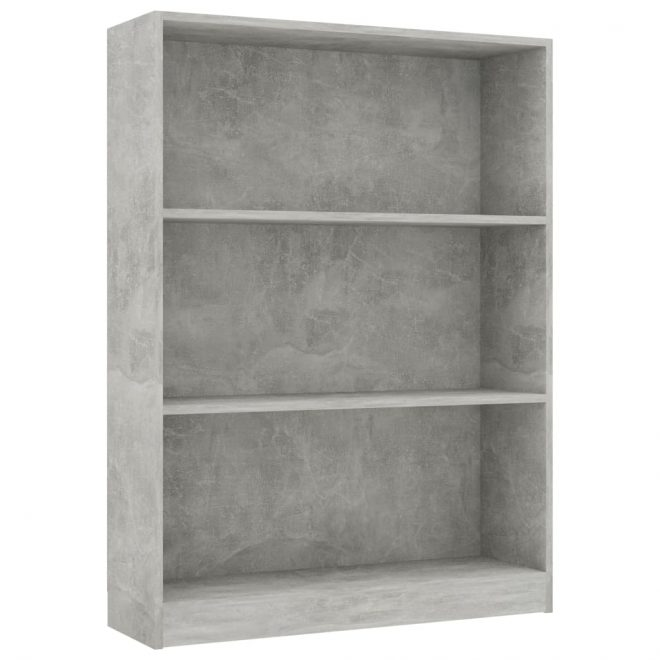 Bookshelf Concrete Grey 80x24x108 cm Chipboard 2