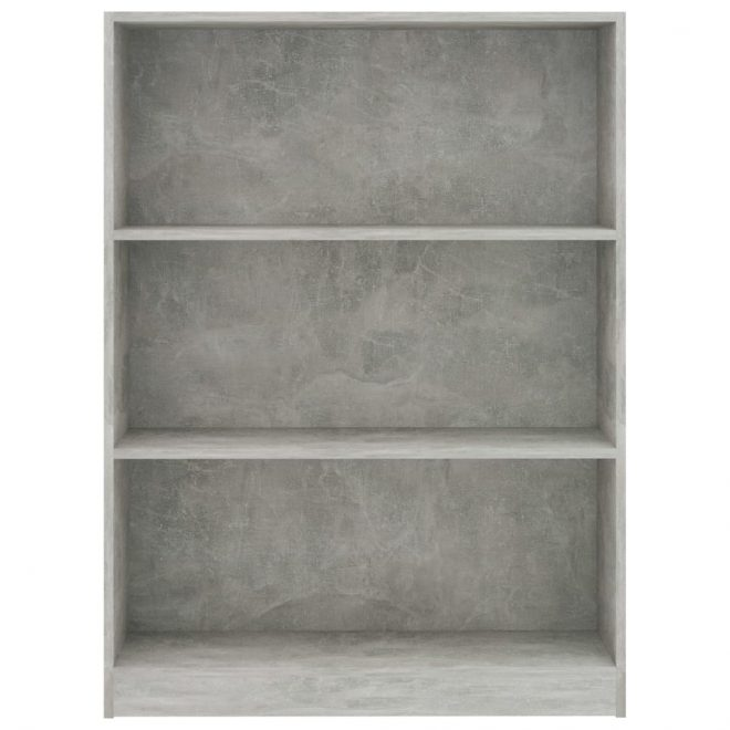 Bookshelf Concrete Grey 80x24x108 cm Chipboard 4