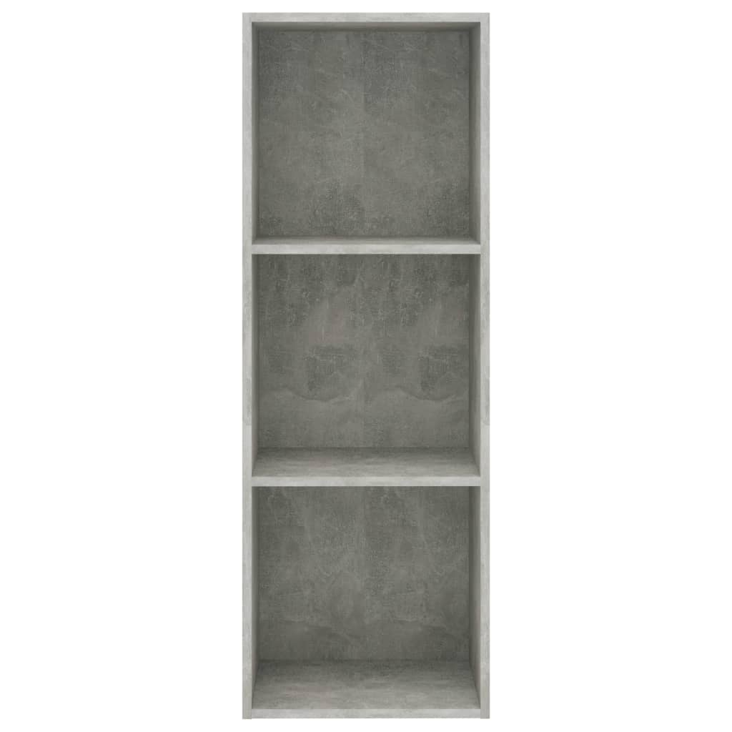 3-Tier Book Cabinet Concrete Grey 40x30x114 cm Chipboard 4
