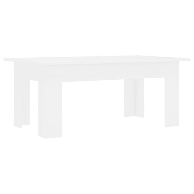 Coffee Table White 100x60x42 cm Chipboard 2