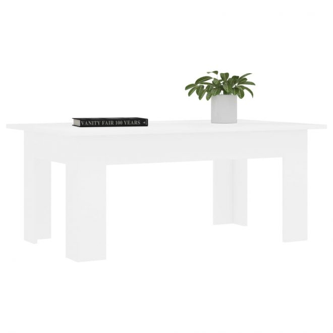Coffee Table White 100x60x42 cm Chipboard 3