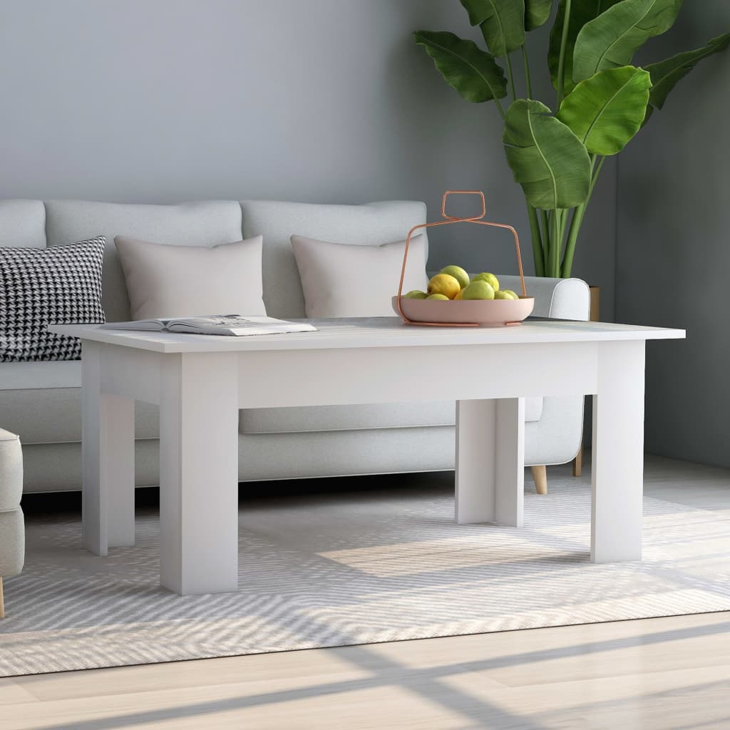 Coffee Table White 100x60x42 cm Chipboard