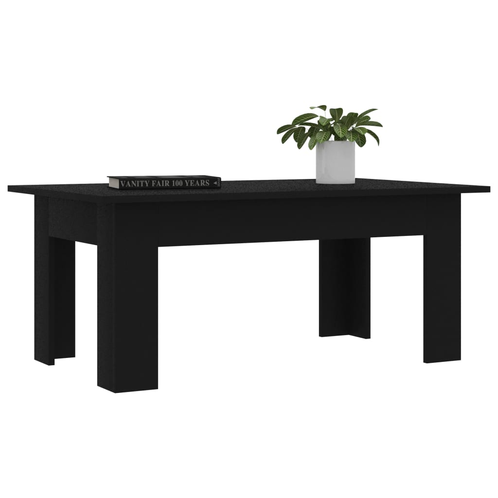 Coffee Table Black 100x60x42 cm Chipboard 3