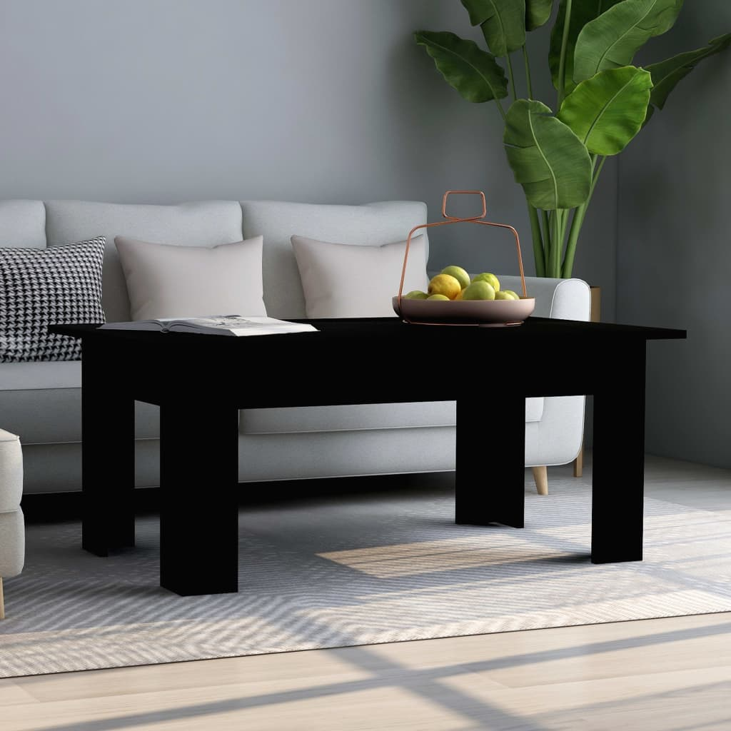Coffee Table Black 100x60x42 cm Chipboard 1