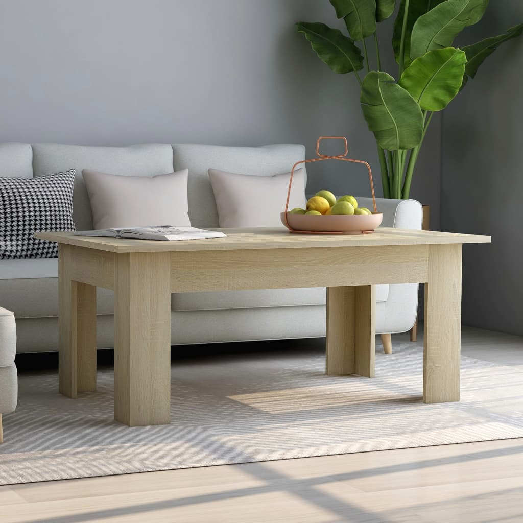 Coffee Table Sonoma Oak 100x60x42 cm Chipboard
