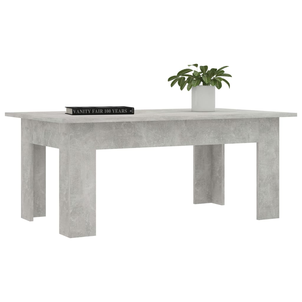 Coffee Table Concrete Grey 100x60x42 cm Chipboard 3