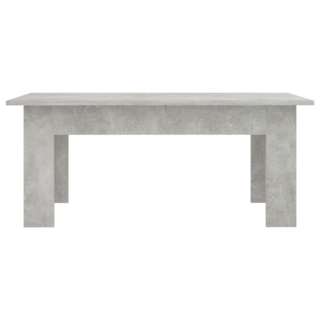 Coffee Table Concrete Grey 100x60x42 cm Chipboard 4