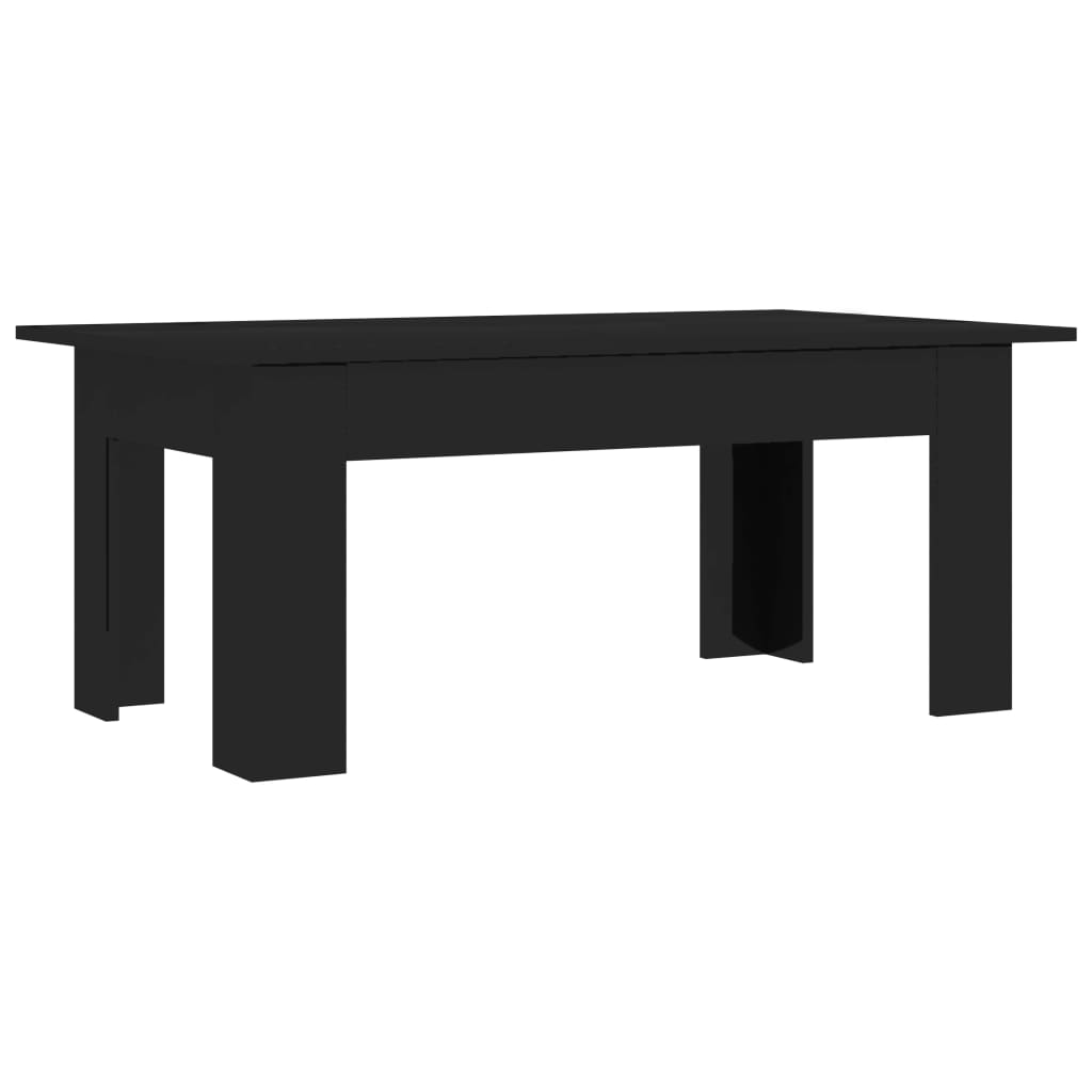 Coffee Table High Gloss Black 100x60x42 cm Chipboard 2