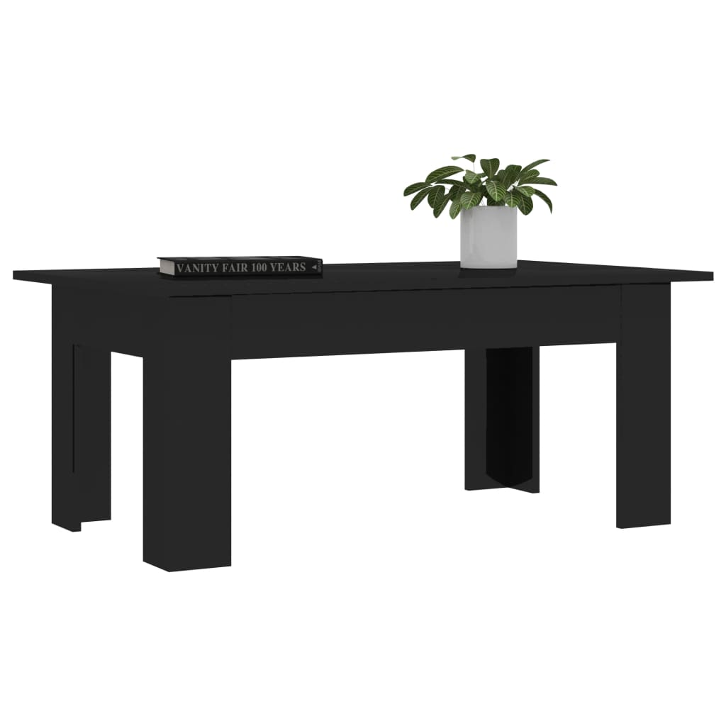 Coffee Table High Gloss Black 100x60x42 cm Chipboard 3
