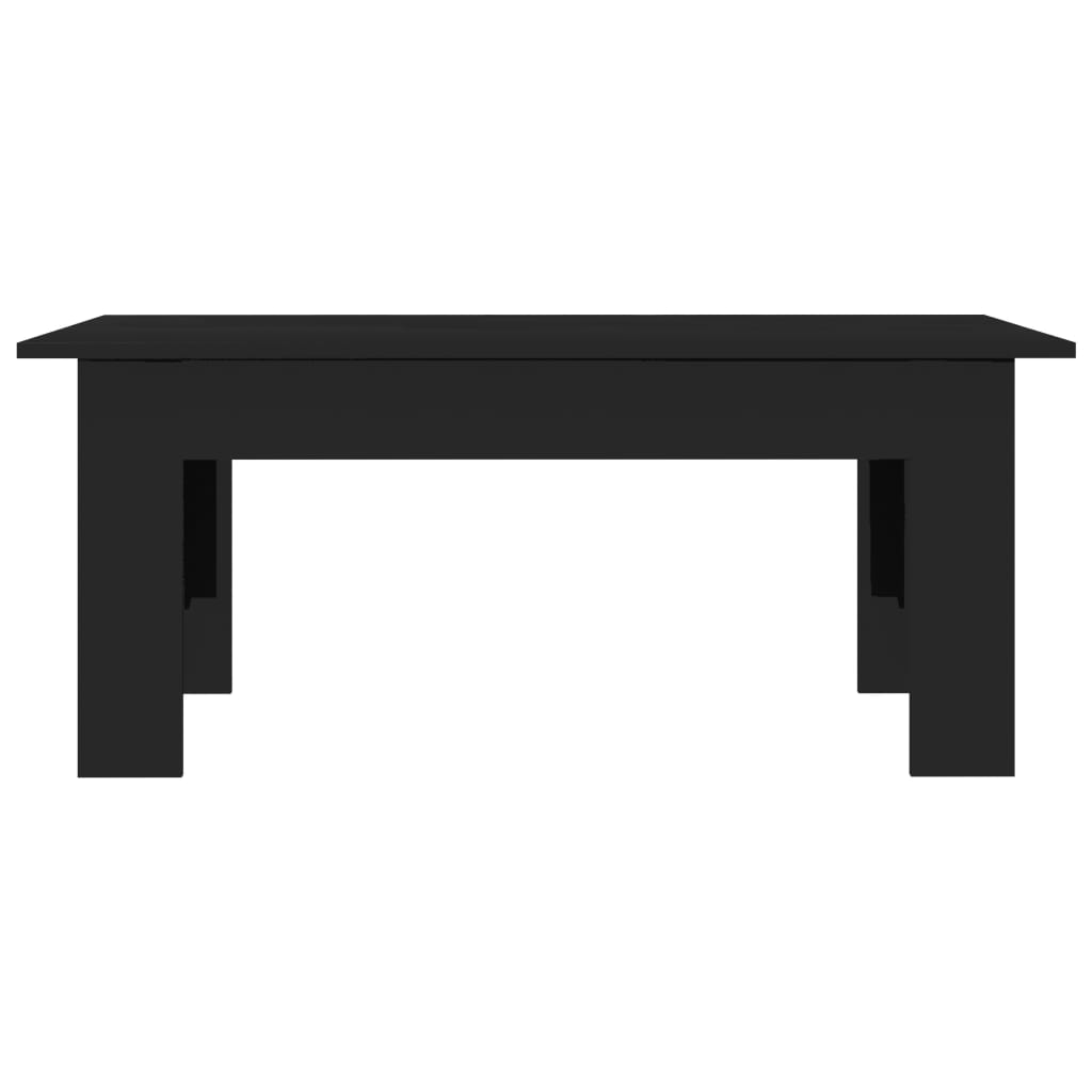 Coffee Table High Gloss Black 100x60x42 cm Chipboard 4