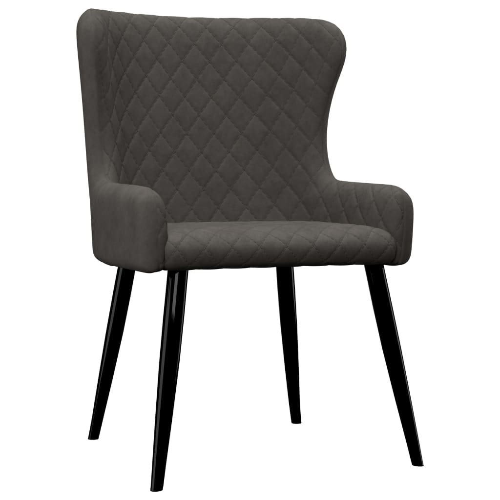 Dining Chairs 6 pcs Grey Velvet 2