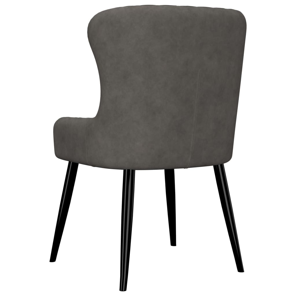Dining Chairs 6 pcs Grey Velvet 5