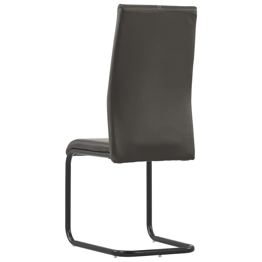 Dining Chairs 6 pcs Brown Faux Leather 5