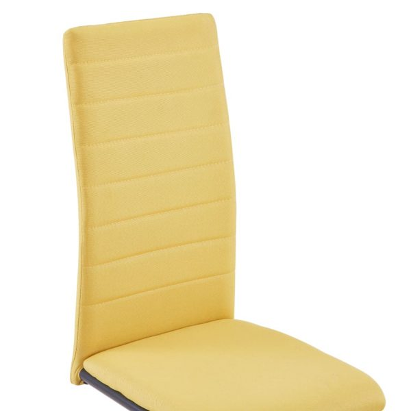 Dining Chairs 6 pcs Yellow Fabric 6