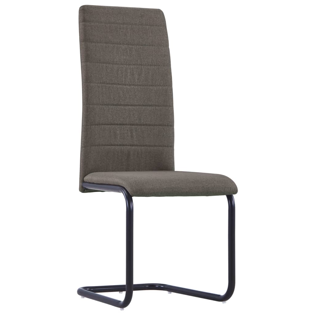 Dining Chairs 6 pcs Taupe Fabric 2