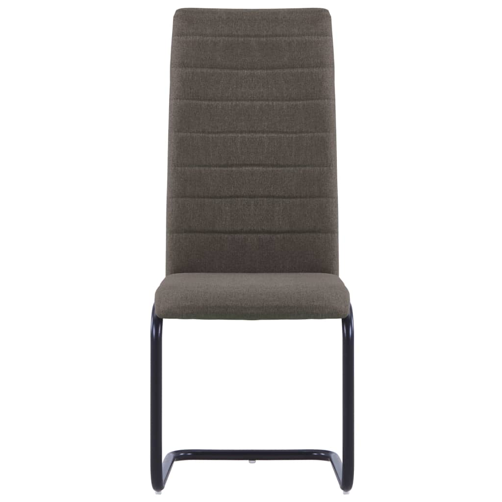 Dining Chairs 6 pcs Taupe Fabric 3