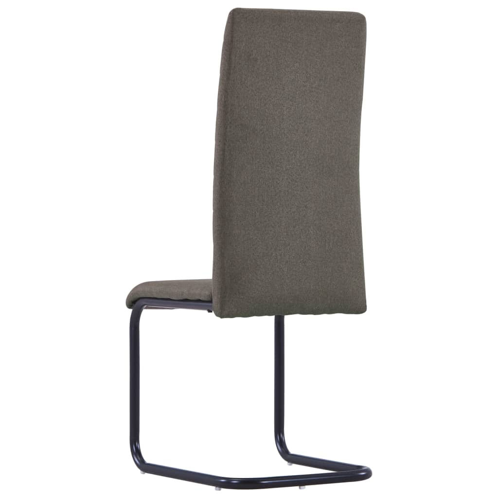 Dining Chairs 6 pcs Taupe Fabric 5