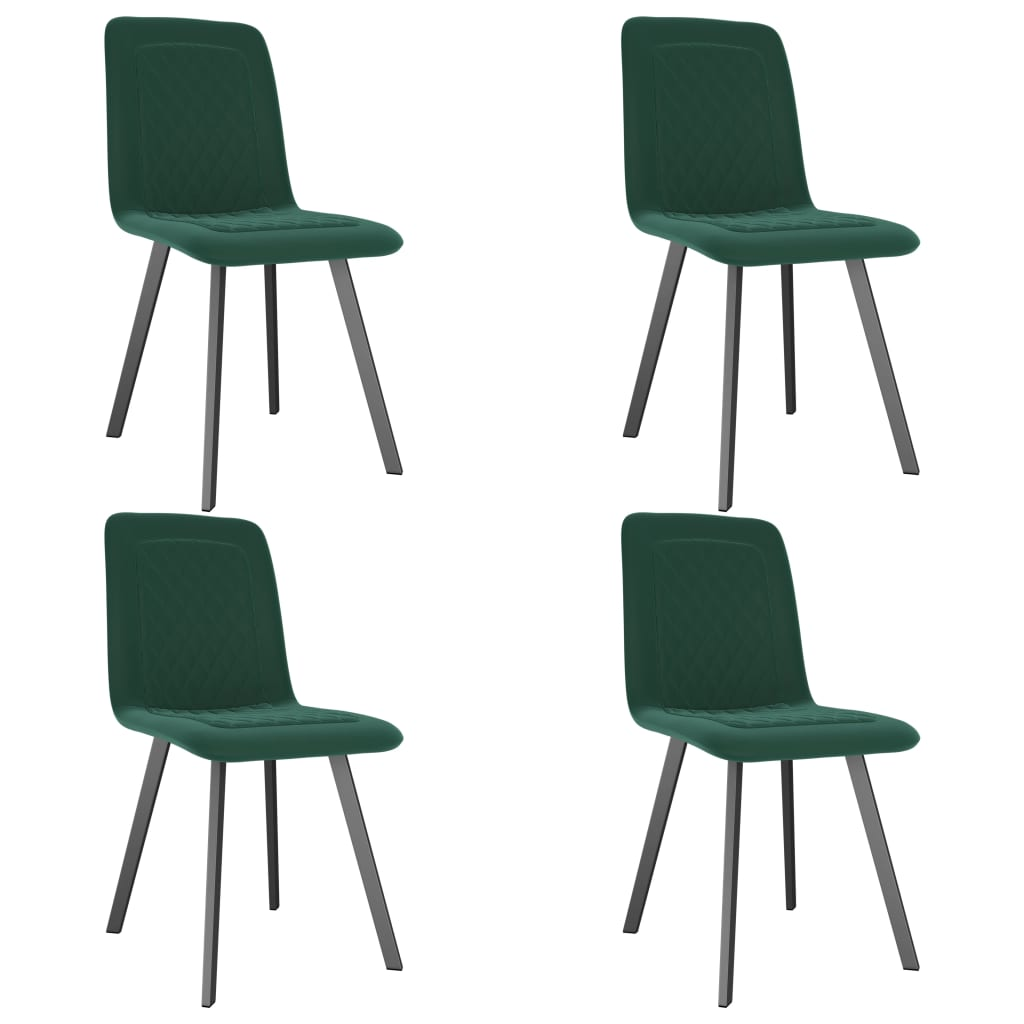 Dining Chairs 4 pcs Green Velvet 1