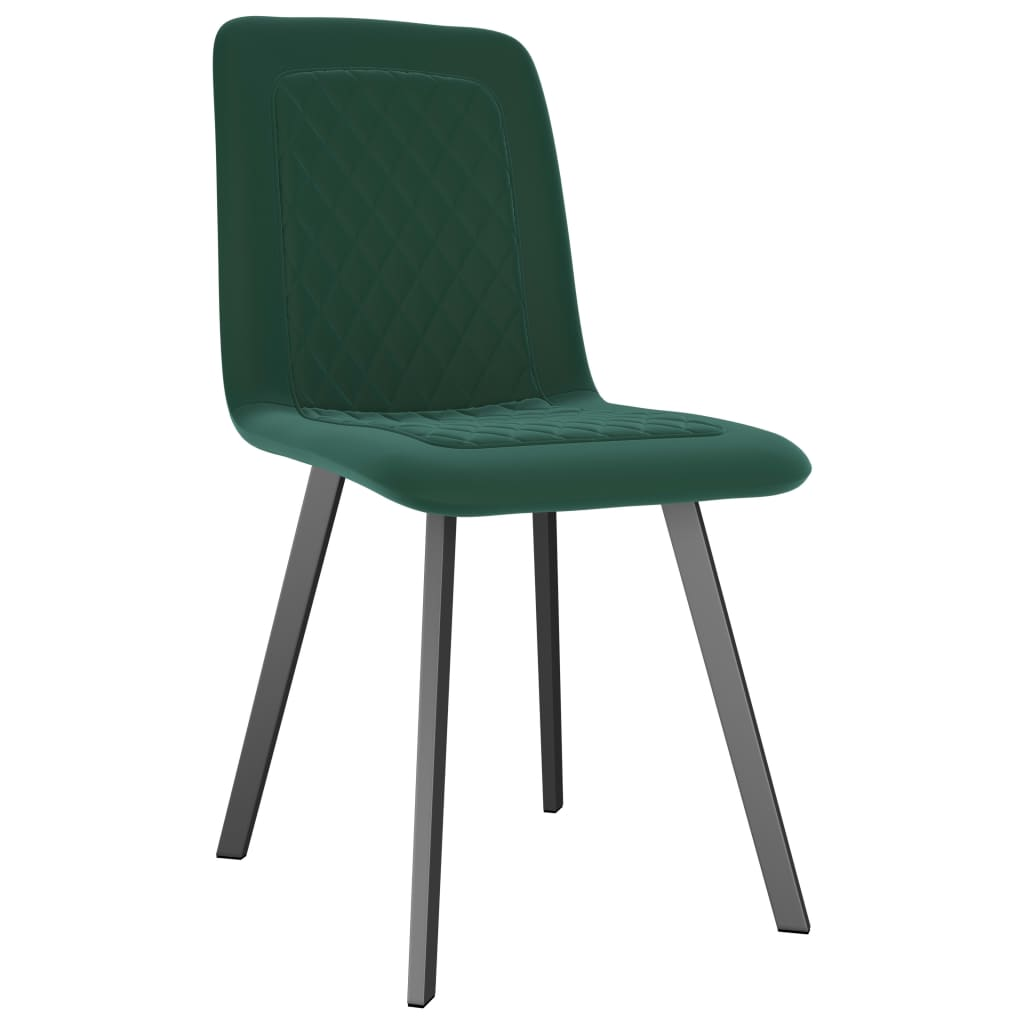 Dining Chairs 4 pcs Green Velvet 2