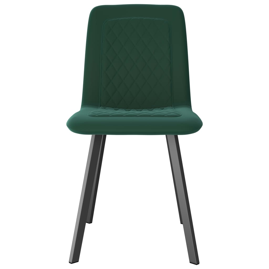 Dining Chairs 4 pcs Green Velvet 3