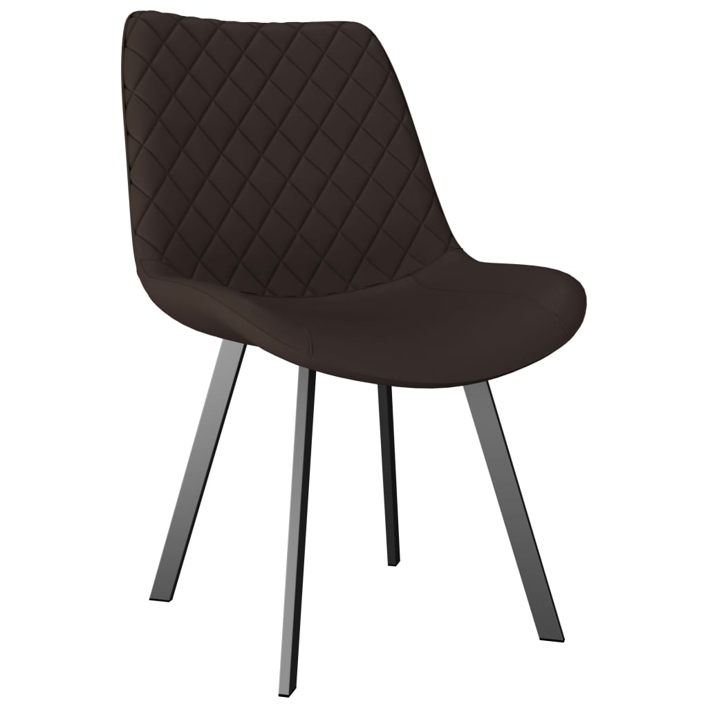 Dining Chairs 6 pcs Brown Faux Leather 2