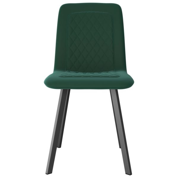 Dining Chairs 6 pcs Green Velvet 3