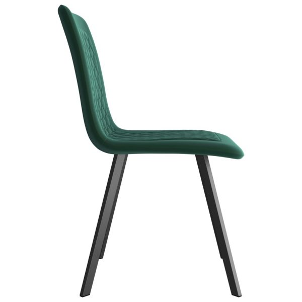 Dining Chairs 6 pcs Green Velvet 4