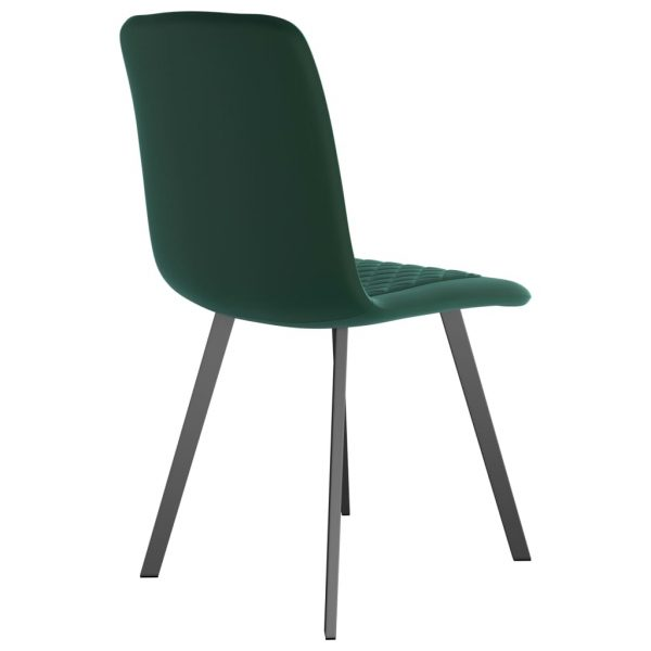 Dining Chairs 6 pcs Green Velvet 5