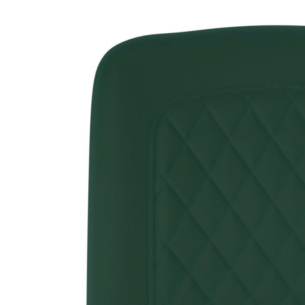 Dining Chairs 6 pcs Green Velvet 6