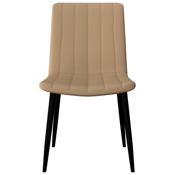 Dining Chairs 6 pcs Cream Faux Leather 3