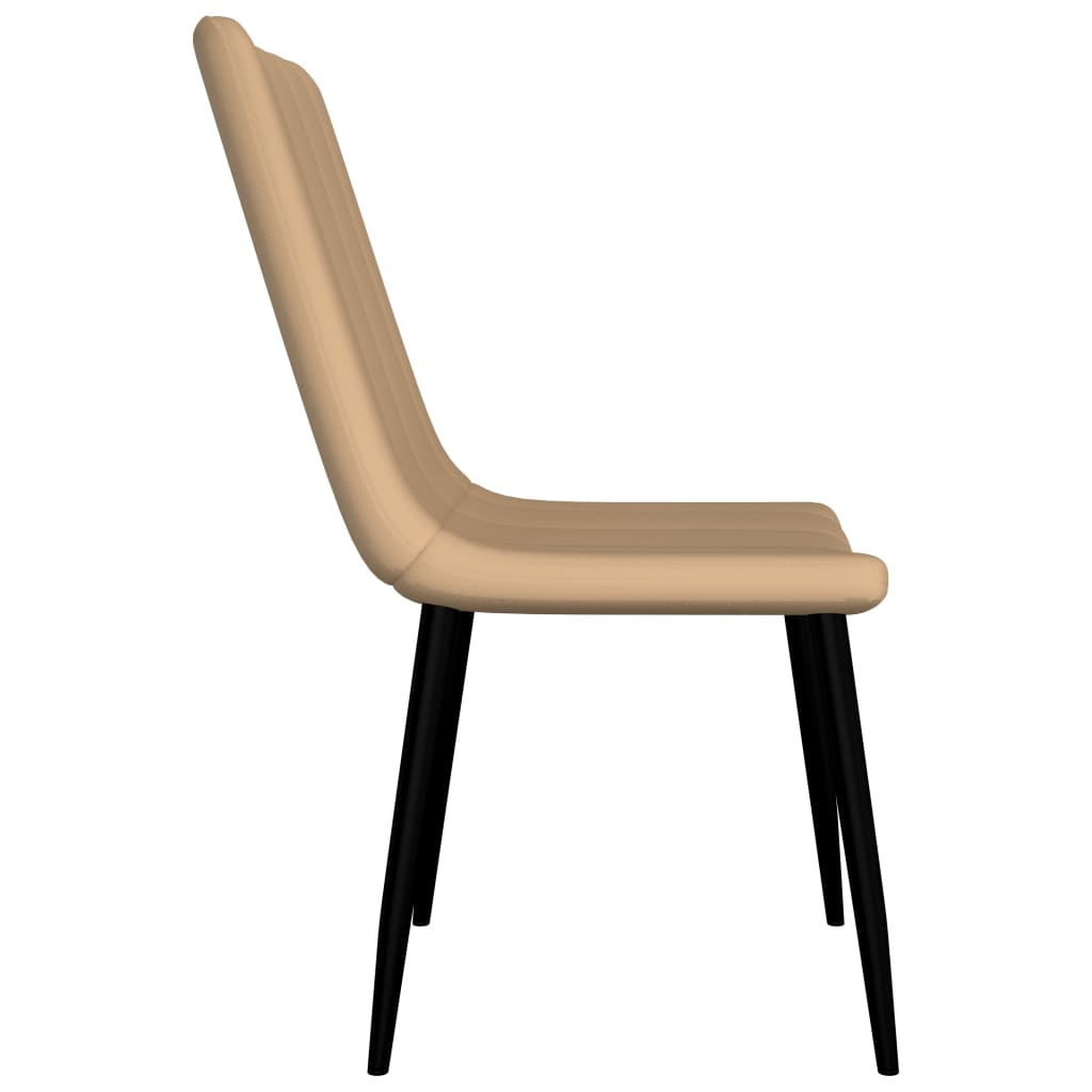 Dining Chairs 6 pcs Cream Faux Leather 4