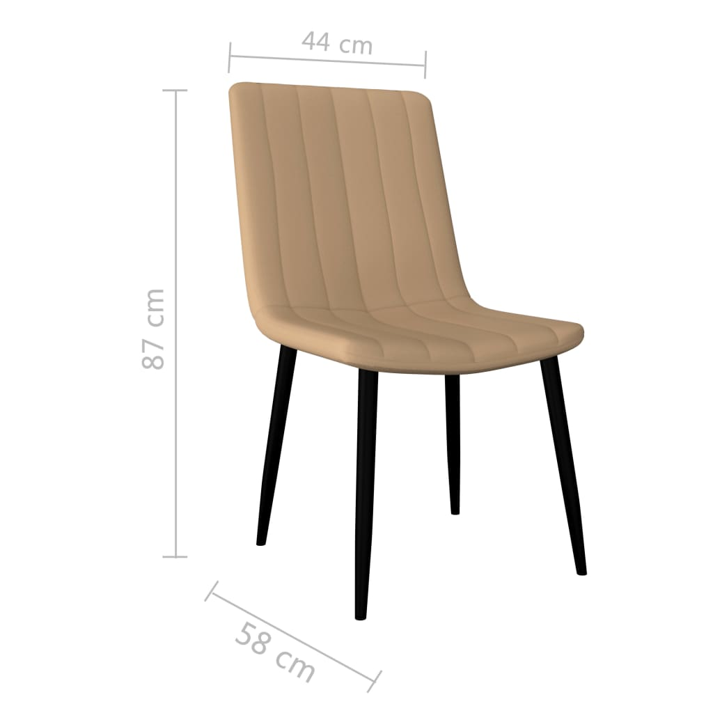 Dining Chairs 6 pcs Cream Faux Leather 7