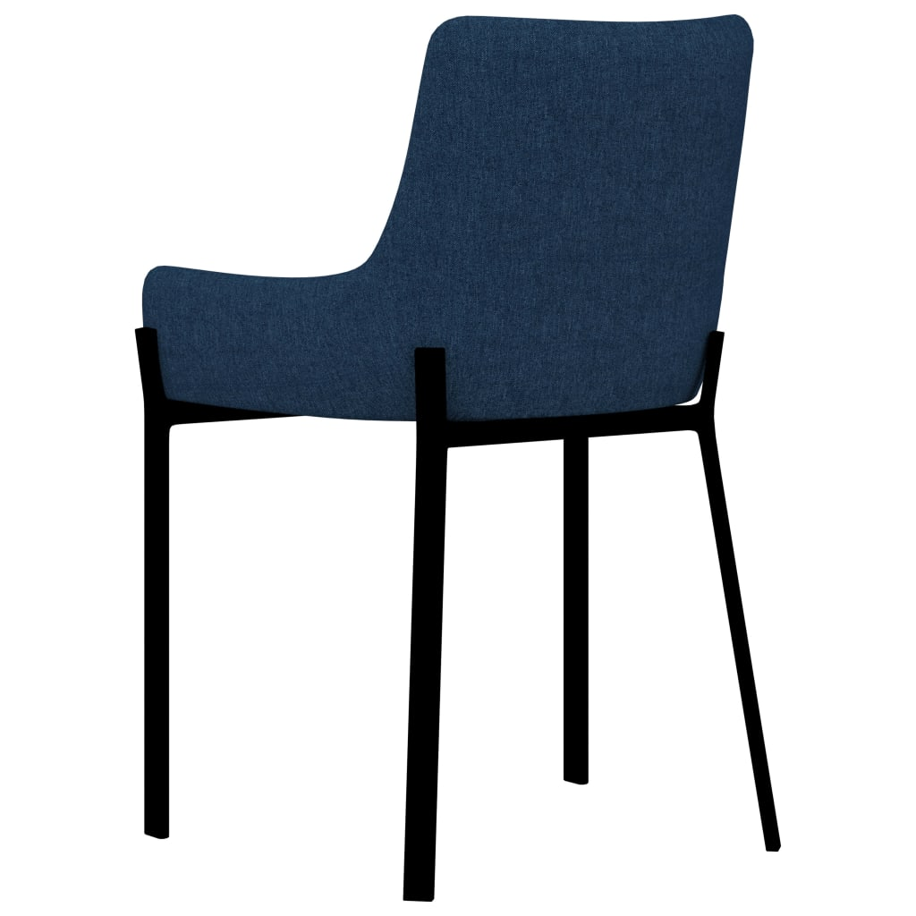 Dining Chairs 6 pcs Blue Fabric 5
