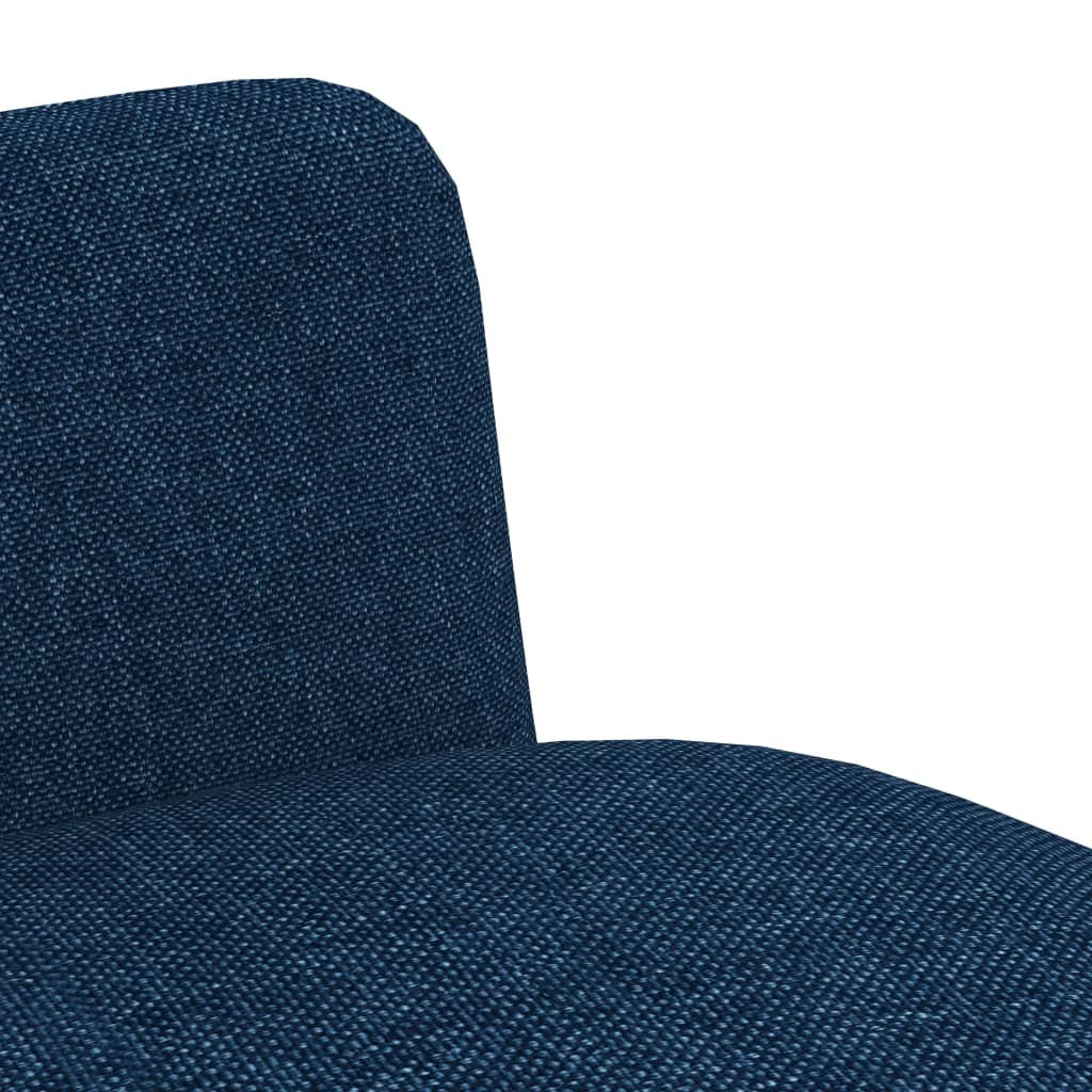 Dining Chairs 6 pcs Blue Fabric 6