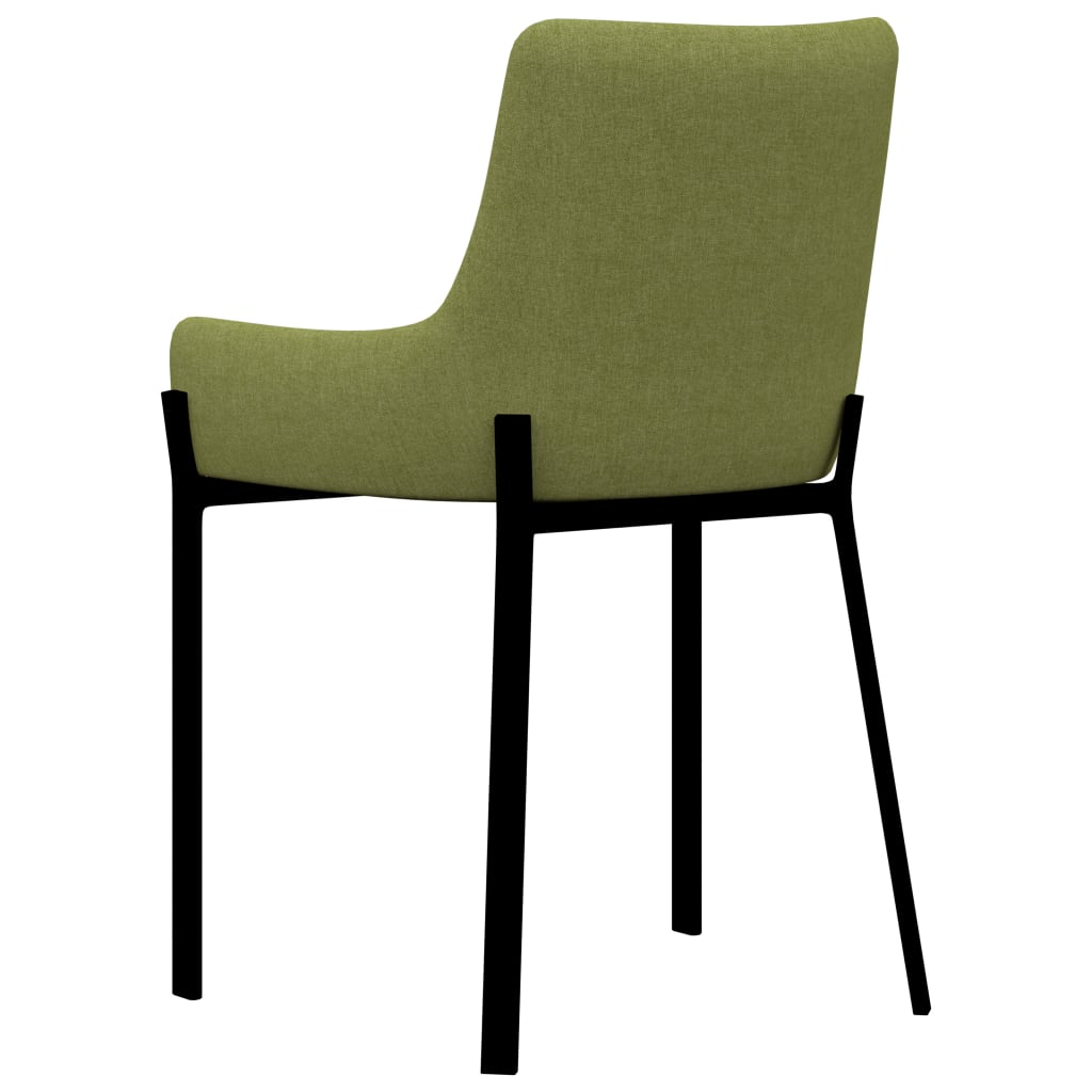 Dining Chairs 6 pcs Green Fabric 5