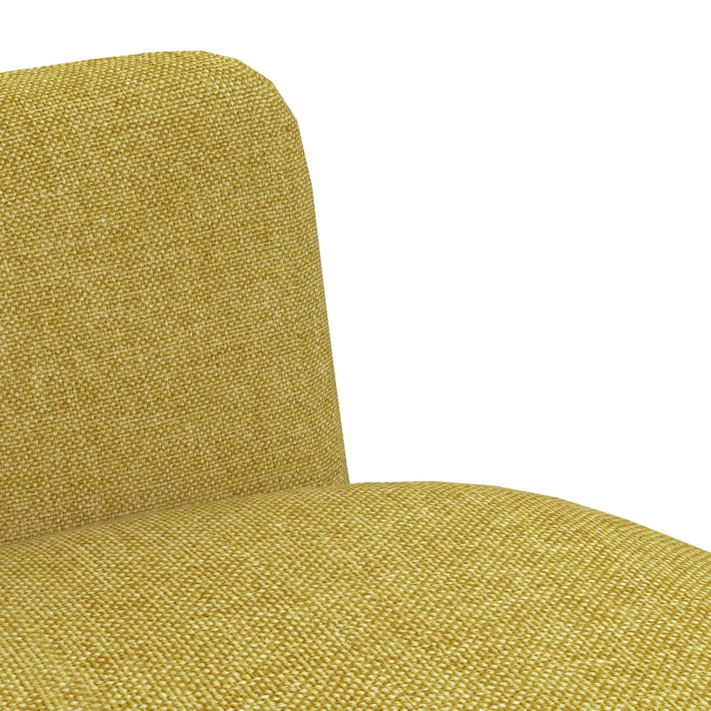 Dining Chairs 4 pcs Yellow Fabric 6