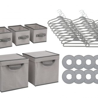 48 Piece Nursery Storage Set – Cool Grey 1