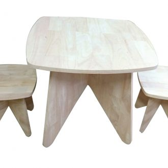 Retro Kid table and stool set 1