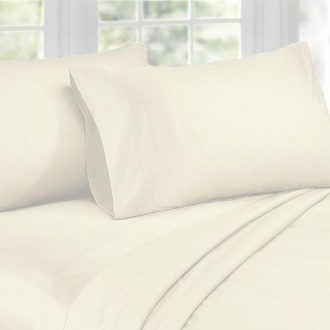 1000TC Cotton Sateen Ivory King Sheet Set by Phase 2 1