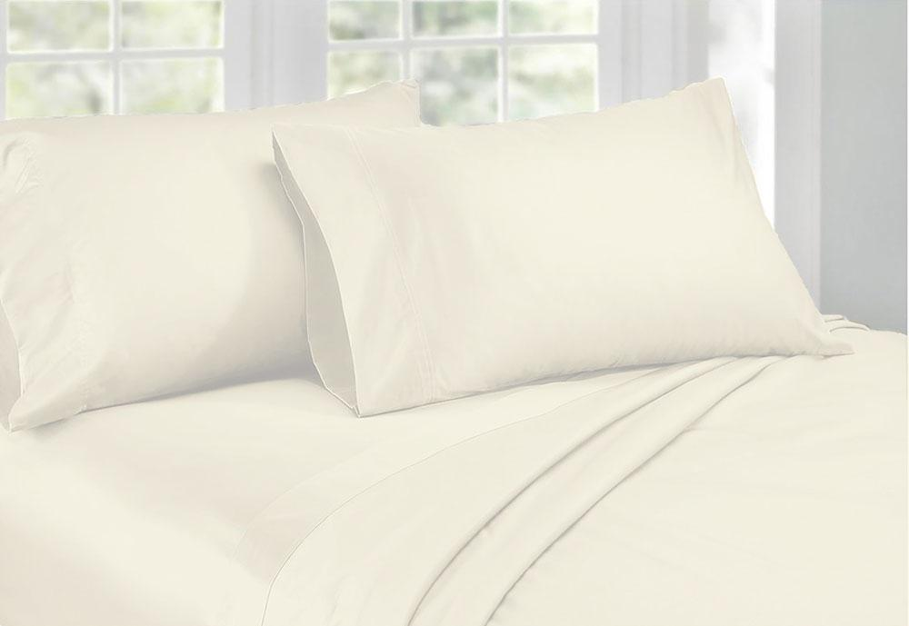 1000TC Cotton Sateen Ivory King Sheet Set by Phase 2